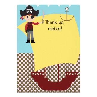 Customizable Pirate Ship Thank You Invitations