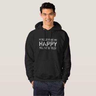 Customizable PITBULLS Make Me Happy Apparel & Gift Sweatshirts