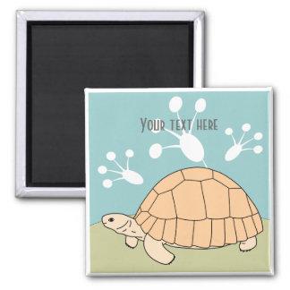 Customizable Ploughshare Tortoise Magnet 1