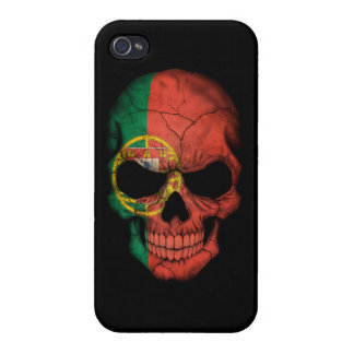Customizable Portuguese Flag Skull Cases For iPhone 4