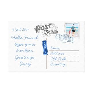 Customizable Postcard Backside Canvas