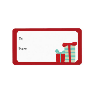 Customizable Presents Holiday Gift Labels
