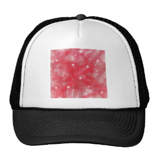 Customizable product with red abstract background mesh hat