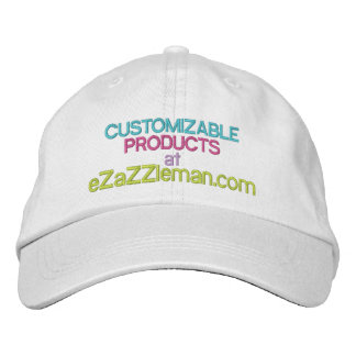 Customizable Products at eZaZZleman.com Embroidered Hat