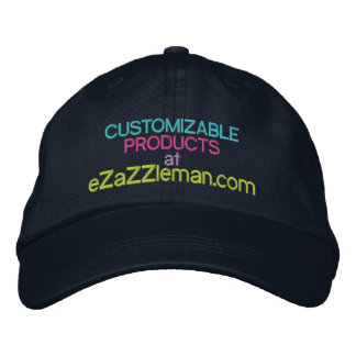 Customizable Products at eZaZZleman.com Embroidered Hats