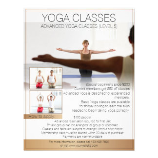 Customizable professional Yoga class flyers