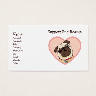 Customizable Pug Business Cards