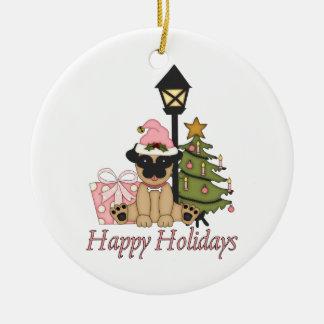 Customizable Pug Christmas Gifts and Cards Christmas Ornament