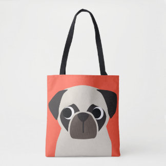 Customizable PUG Tote Bag