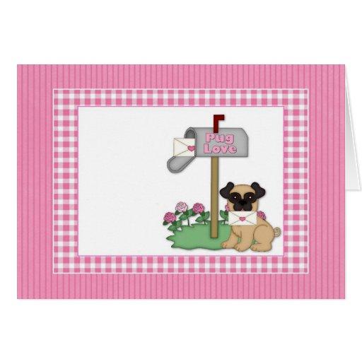 Customizable Pug Valentine Cards, Photo Cards