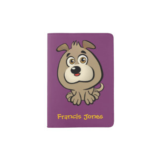 Customizable Puppy Cartoon Passport Holder