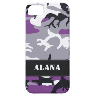 Customizable Purple Camo iPhone 5 Case