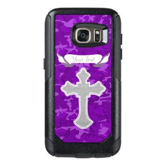 Customizable - Purple Camo with Cross OtterBox Samsung Galaxy S7 Case