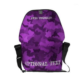 Customizable Purple Camouflage Messenger Bags