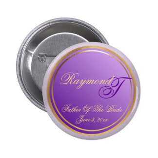 Customizable Purple Father Of The Bride Keepsake Buttons