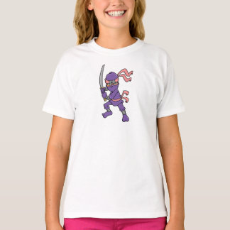 Customizable Purple Ninja Design T-Shirt