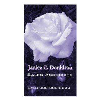 Customizable Purple Rose Business Card Template