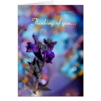 Customizable Purple Salvia Flower Photo Card