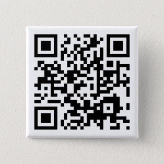 customizable QR code 15 Cm Square Badge