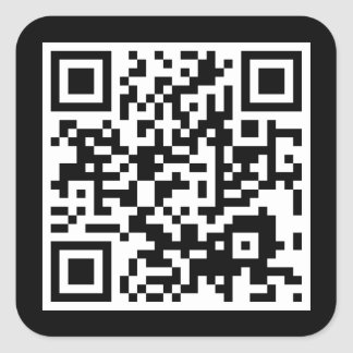 customizable QR code Square Sticker