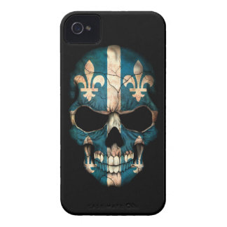 Customizable Quebec Flag Skull iPhone 4 Covers