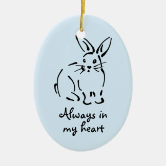 Customizable Rabbit Memorial Ornament