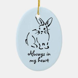 Customizable Rabbit Memorial Ornament