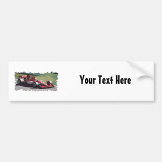 Customizable Race Car With Background Bumper Sticker