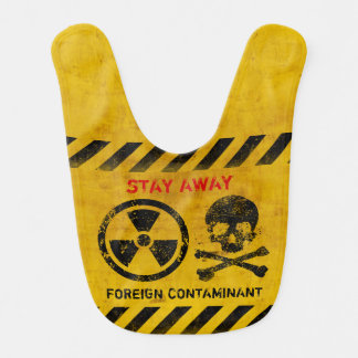 Customizable Radiation Area Warning Bib