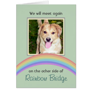 Customizable Rainbow Bridge Pet Memorial Card
