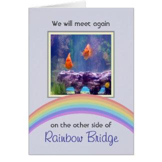 Customizable Rainbow Bridge Pet Memorial Greeting Card