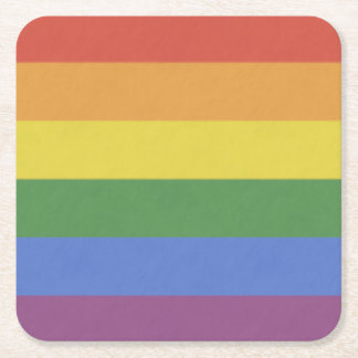 Customizable Rainbow Coaster