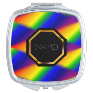 Customizable Rainbow Compact Mirror