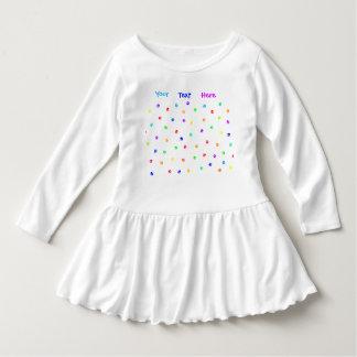 Customizable Rainbow Pawprint Toddler Dress