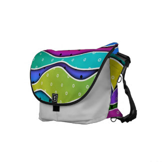 Customizable RAINBOW STRIPES MESSENGER BAG