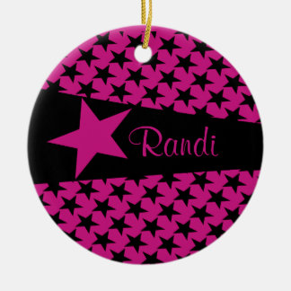 Customizable Randi Round Ceramic Decoration
