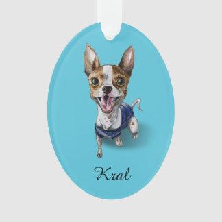 Customizable Rat Terrier Dog Watercolor Painting