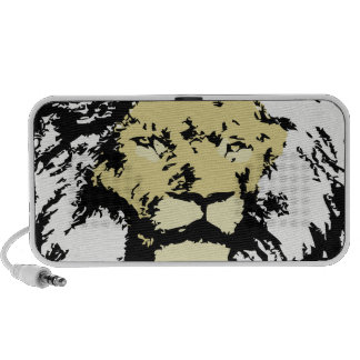 customizable realistic lion face notebook speakers