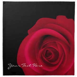 Customizable Red Rose Valentine's Day Napkins