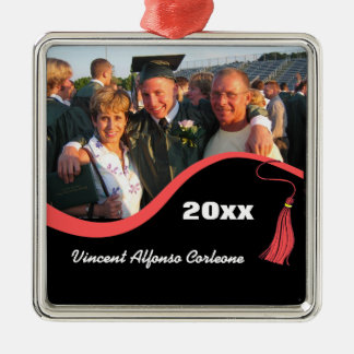 Customizable Red Tassel Graduation Ornament