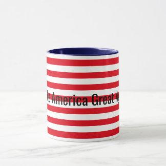 Customizable Red White Blue Make America Great Mug