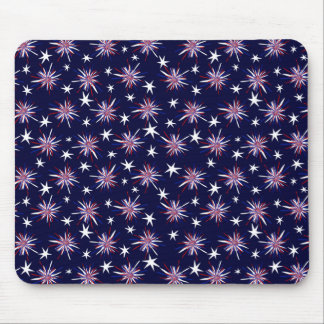 Customizable Red White & Blue Starbursts Mouse Pad