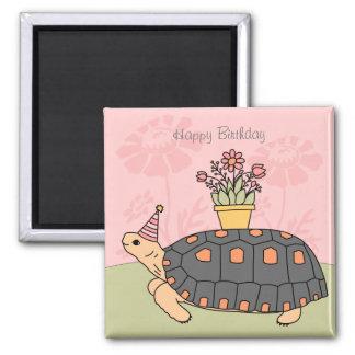 Customizable Redfoot Tortoise Birthday Magnet 3