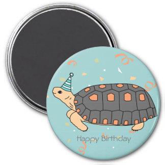 Customizable Redfoot Tortoise Birthday Magnet 4