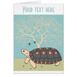 Customizable Redfoot Tortoise Card