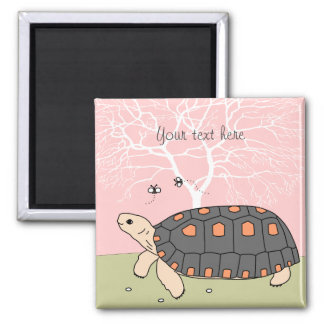 Customizable Redfoot Tortoise Magnet