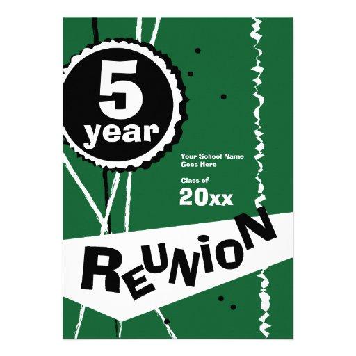 Customizable Retro 5 Year Class Reunion Invitation