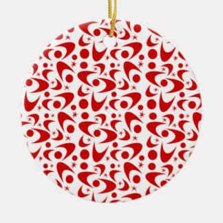 Customizable Retro Boomerangs Christmas Ornament