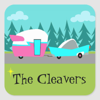 Customizable Retro Camper / Trailer & Car Stickers