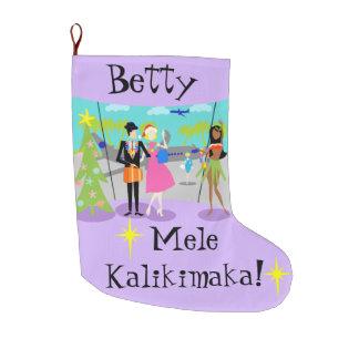 Customizable Retro Hawaiian Christmas Stocking